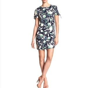 BANANA REPUBLIC - BLUE FLORAL MINI DRESS - S